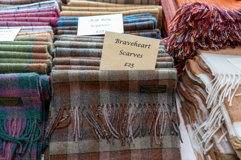 Scarves at Islay Woollen Mill
