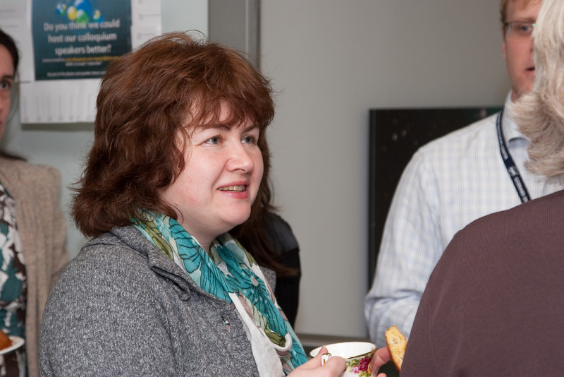 Olga Vovk -- March 2011 new staff welcome coffee, Astrophysics Science Division, NASA/ Goddard Space Flight Center