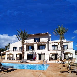 19163 Seaview finca with 11 studios pool large terrace and garden