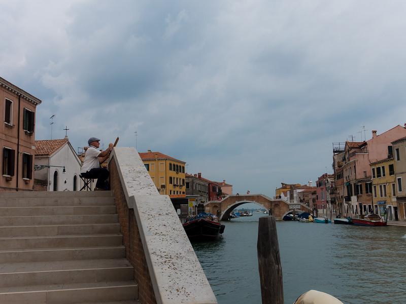 An artist in Venice