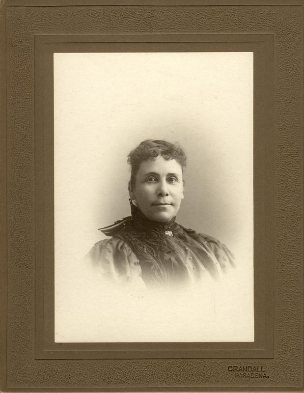 Dora Meldon (Bucher) Stevens (1850-1921) third wife of Frank D. Stevens.