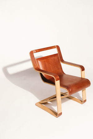 Aviator Chair A Flat Folding Leather Chair Made Using No Joinery by ZEV BIANCHI