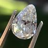 2.61ct Antique Pear Cut Diamond GIA I SI1 6