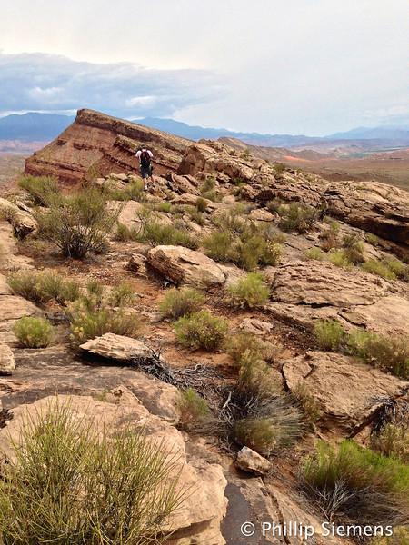 Hiking the Virgin Anticline