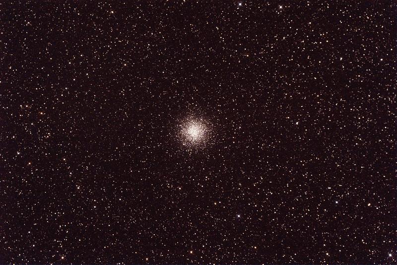 Messier M55 - NGC6809 - Globular Cluster in Sagittarius - 24/9/2014 (Processed single test image)