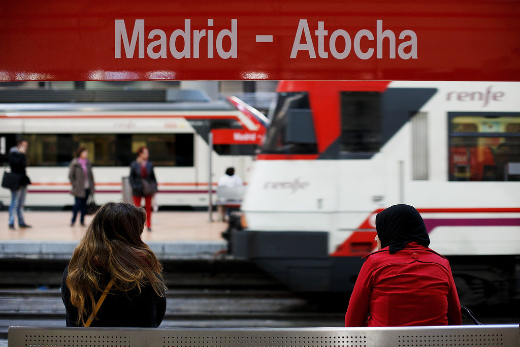 . MADRID, SPAIN - MARCH 11:  People wait for trains at Atocha railway station during the 10th anniversary of Madrid train bombings on March 11, 2014 in Madrid, Spain. Spain\'s worst terrorist attack killed 192 people and injured another 1,857 in the early hours of March 11, 2004, after devices exploded in four commuter trains heading to Atocha Railway Station. Former Spanish Prime Minister Jose Maria Aznar and his government said the attack was carried out by the ETA, a Basque separatist group, but the judicial investigation discounted the theory.  (Photo by Pablo Blazquez Dominguez/Getty Images)