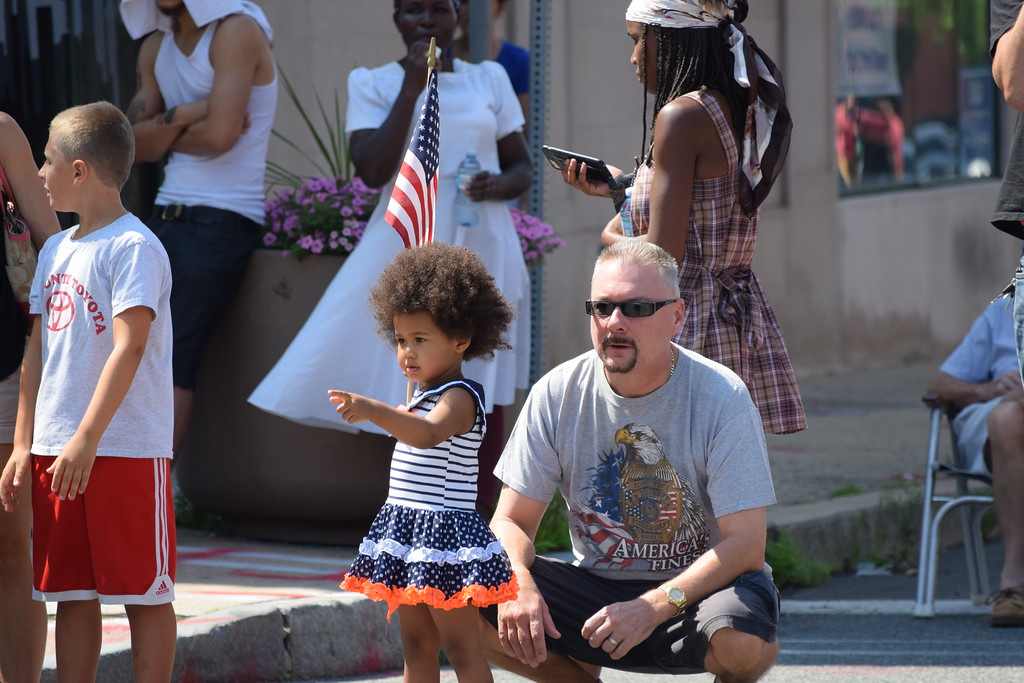 . Kids and families watched as community organizations and bands paraded down High Street for the GoFourth! Festival Tuesday.--Marian Dennis, Digital First Media