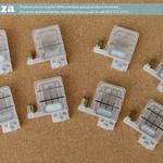 SKU: F-INK/DAMPER/DX5X, A Set of 8 Solvent Resistant Transparent Plastic One-way Flow Control Ink Dampers (Dumper) for 4mm Ink Pipe for EPSON DX5/XP600 Printhead