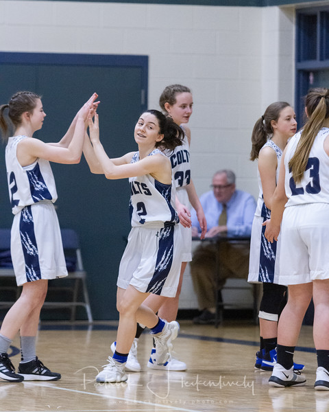 2020-02-15 Hillsdale Academy JV and Varsity Girl's Basketball vs. Pittsford - Senior Night