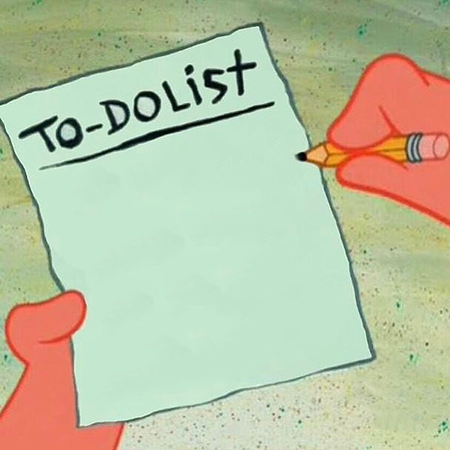 IFT To-Do List