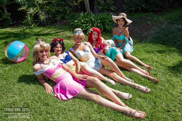 Sunbathing Disney Princesses