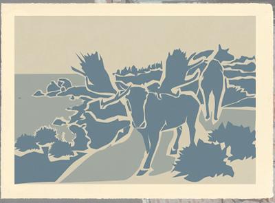 """Far North"" (silkscreen print) by Gene Barbera"
