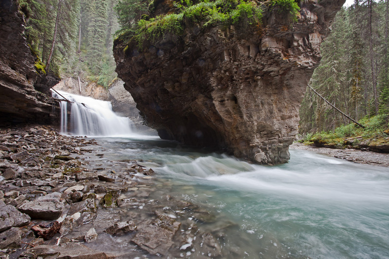 Johnston Creek is a tributary of the Bow River.  It passes through Johnston Canyon before joining the Bow.