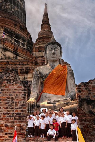 Ayutthaya. Buddha at Wat Yai Chai MongkhonWithKids.jpg