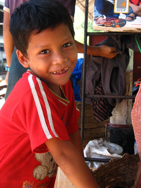 Another boy at the Yangon Central Railway Station