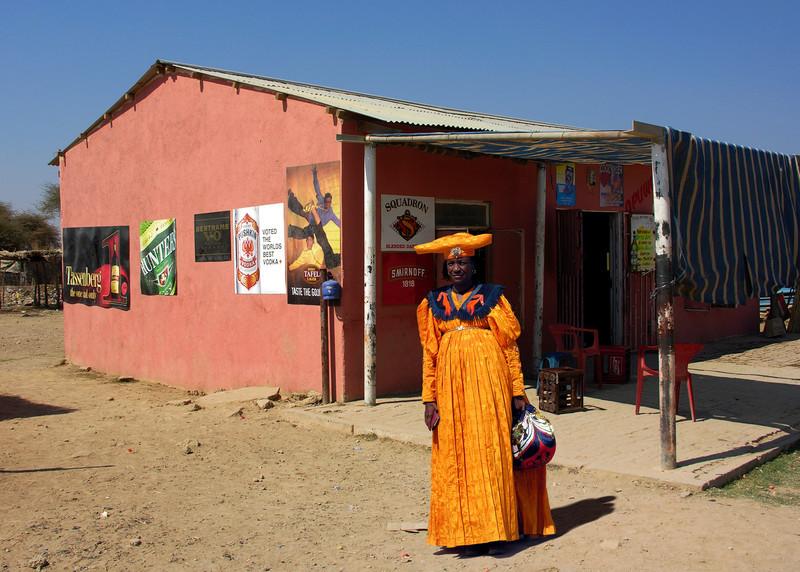 HERERO WOMAN - OPUWO, NAMIBIA