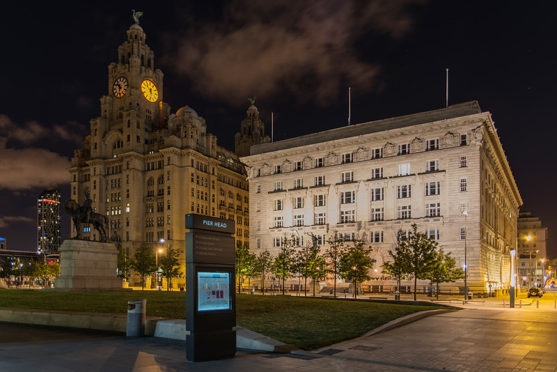 Royal Liver Building and Cunard Building, Pier Head, Liverpool