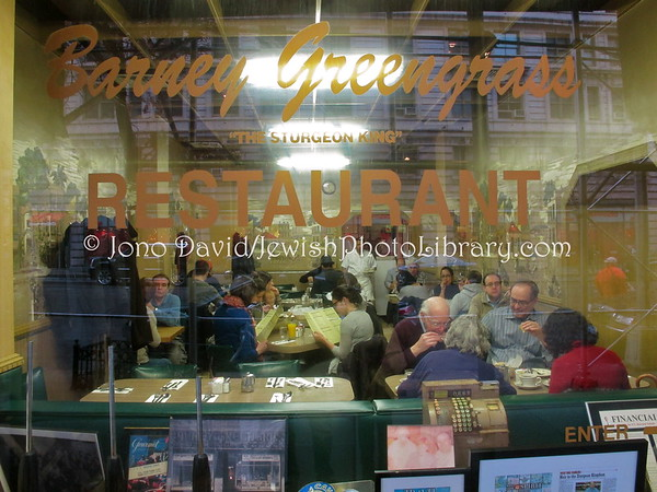 USA, New York, New York City, Manhattan. Barney Greengrass (appetizing store and restaurant). (2.2012)