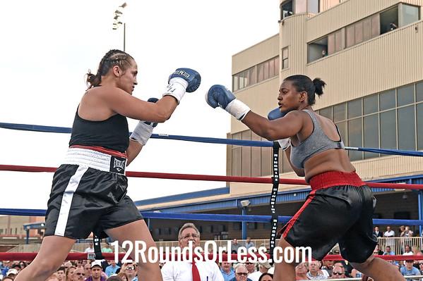 Bout 3 Jenna Johlin Thompson, Toledo, OH -vs- Allanna Jones, Detroit, MI, Super Welterweight
