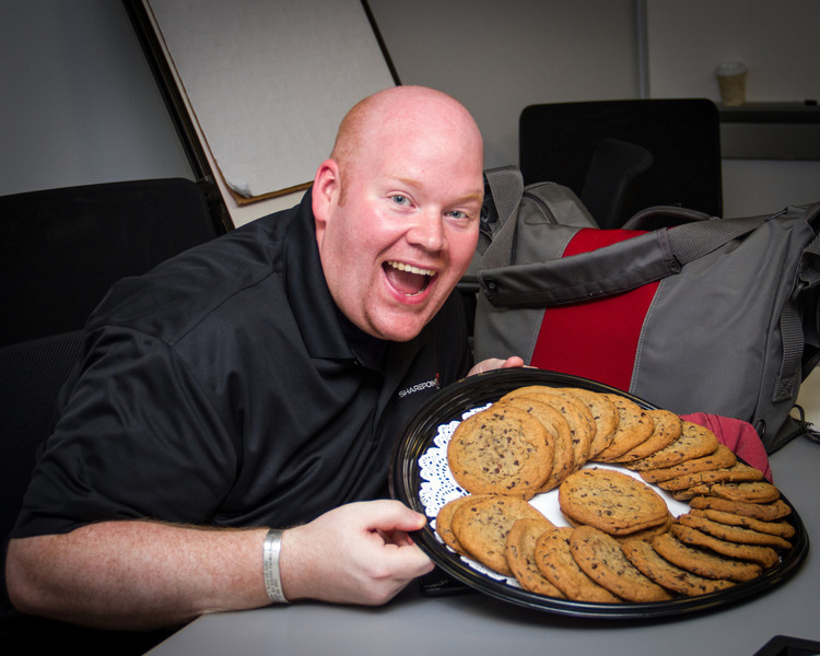 It's cookie time! This is how Dan always appears.  He isn't posing.