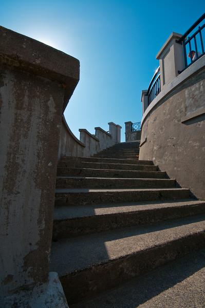 Curving stairway in Stanley Park.