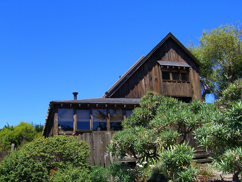Juniper House, Bolinas, constructed from a reclaimed barn.