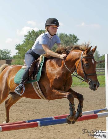Natalie riding Jim