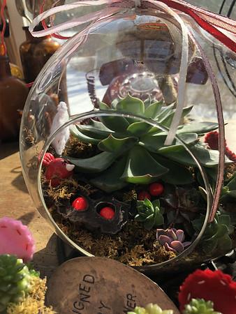 Custom Valentines Globes w Succs