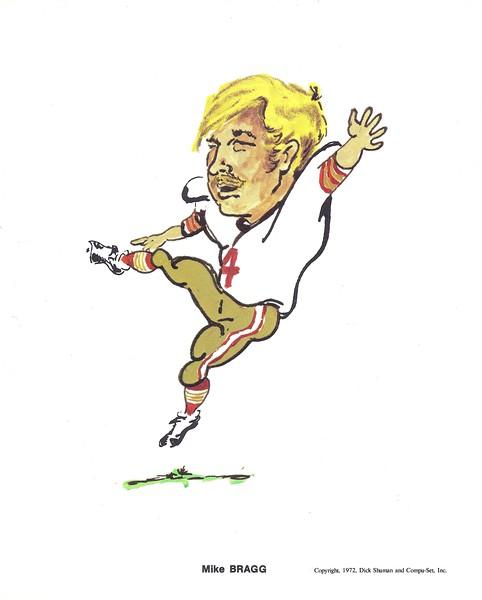 1972 Compu-Set Redskins Mike Bragg