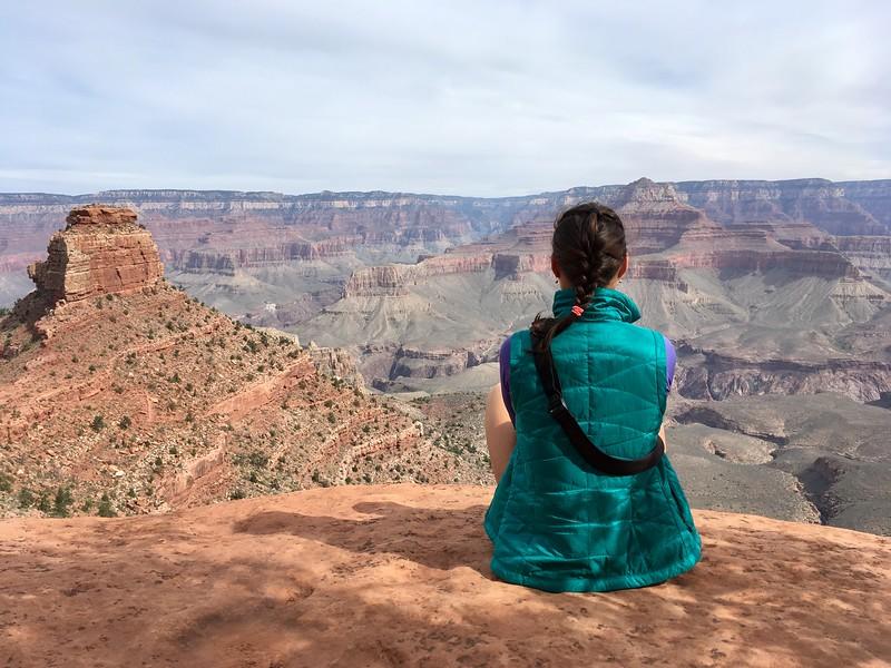 Yuliya embracing the views