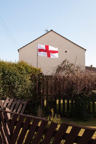 Flag in Garden