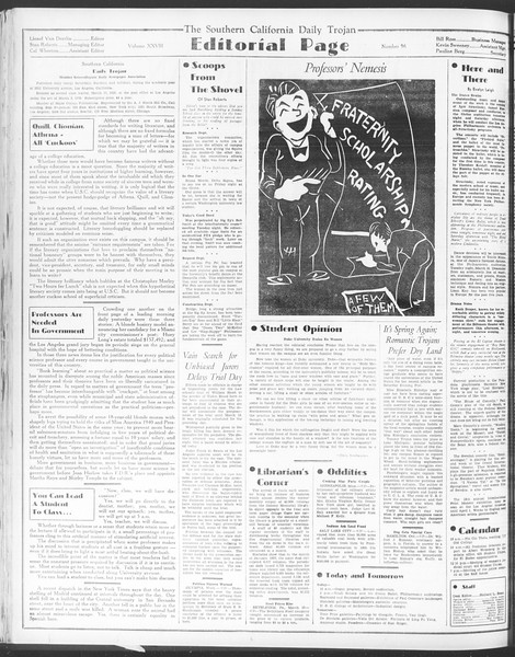 Daily Trojan, Vol. 28, No. 96, March 11, 1937