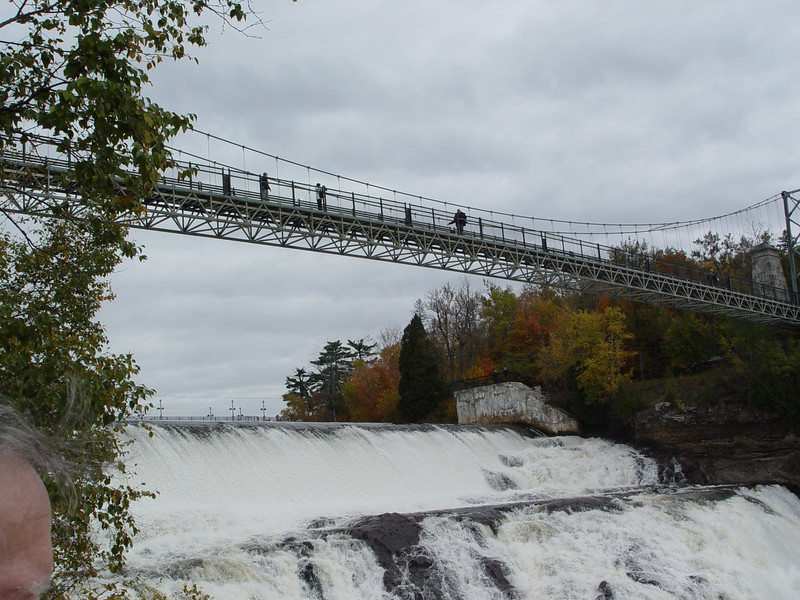 Montmorency, Quebec  (That's David up there!)