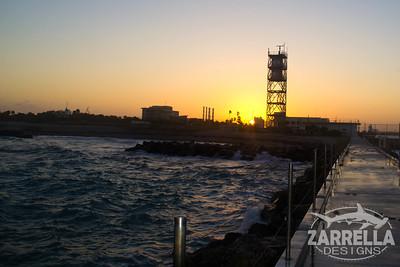 """Sunset and Crashing Waves"" (Dania Beach, Florida)"