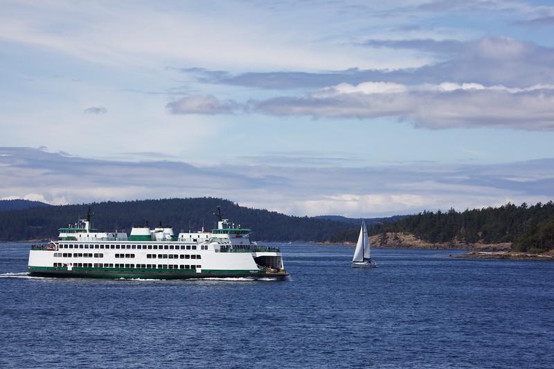 "Washington State Ferry ""Chelan"" in the San Juan Islands."
