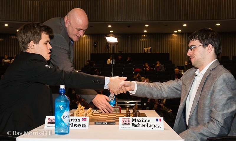 The play-off  final - Magnus Carlsen vs Maxime Vachier-Lagrave