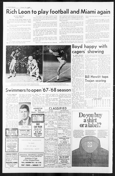 Daily Trojan, Vol. 59, No. 51, December 05, 1967