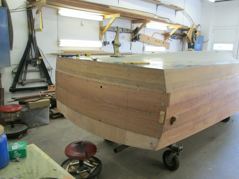 First two new transom planks fit.