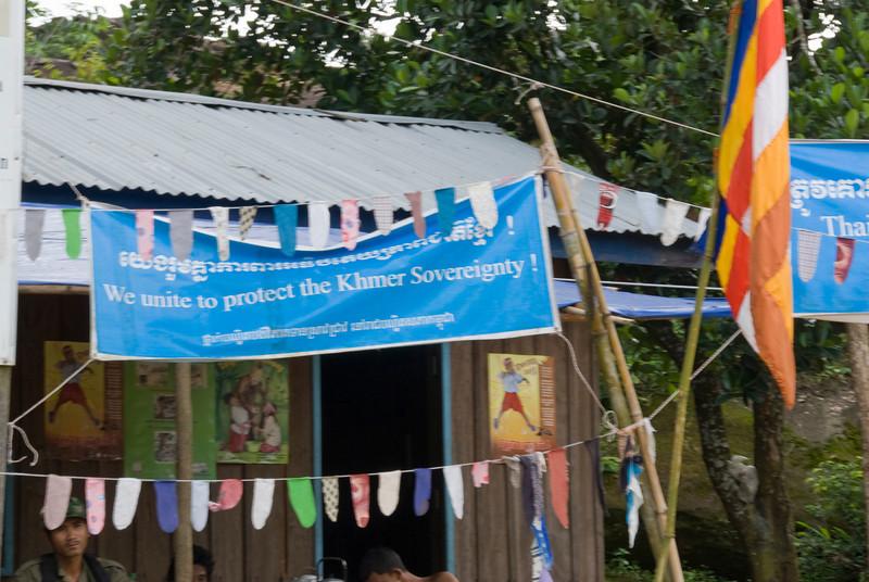 Propaganda sign outside of the Preah Vihear Temple