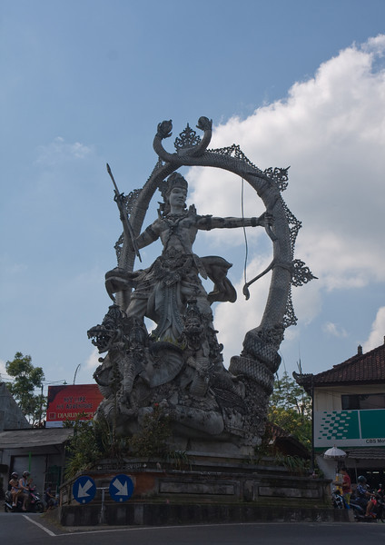 Traffic circle near Ubud