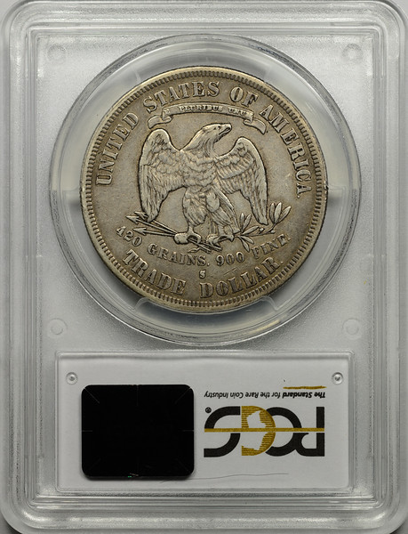 1878 S TRADE DOLLAR PCGS VF35 CAC Reverse