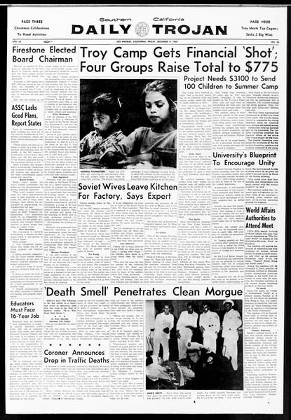 Daily Trojan, Vol. 52, No. 56, December 09, 1960
