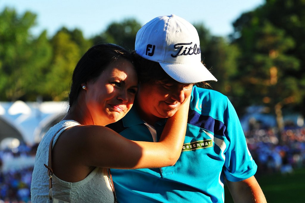 . <p>2. (tie) JASON DUFNER <p>Grabs his first major, along with a healthy chunk of his wife�s ass. What a dip! (unranked) <p>     (Stuart Franklin/Getty Images)