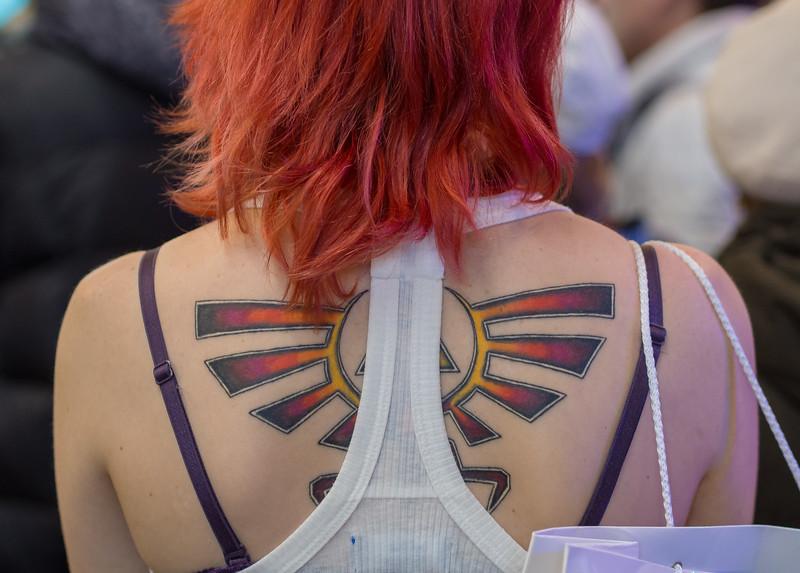 Triforce tattoo at Igromir 2013