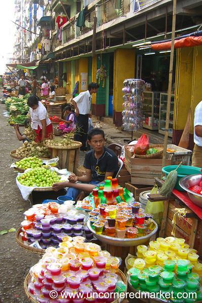 Jello Packets on Street - Rangoon, Burma (Yangon, Myanmar)