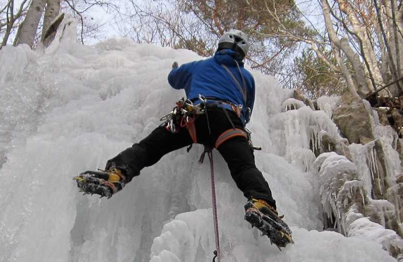 Ice climbing in Ecrins National Park, France