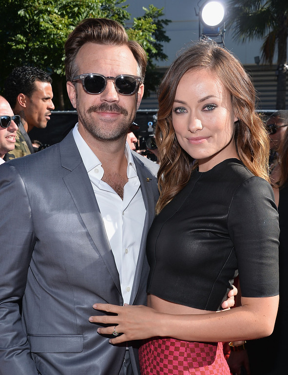 . Actors Jason Sudeikis and Olivia Wilde attend The 2013 ESPY Awards at Nokia Theatre L.A. Live on July 17, 2013 in Los Angeles, California.  (Photo by Alberto E. Rodriguez/Getty Images for ESPY)