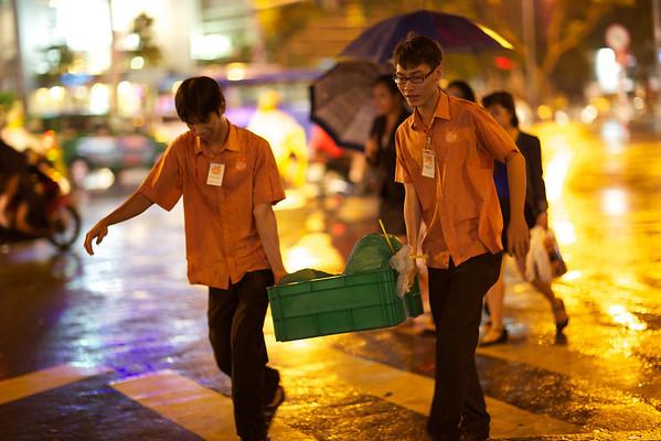 A Rainy Day in Ho Chi Minh City Vietnam