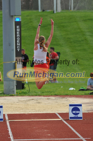 Women's Long Jump - 2013 GLIAC Outdoor Track and Field Championships