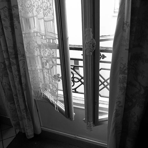 Hotel window, Paris Latin Quarter